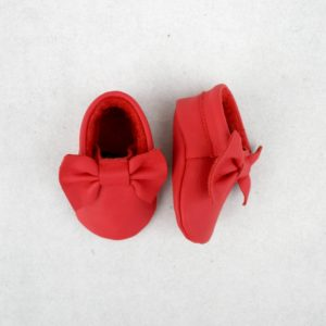 papillon red moccasins over