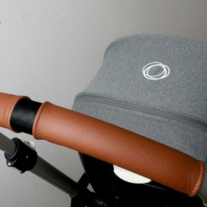 stroller with brown handle covers