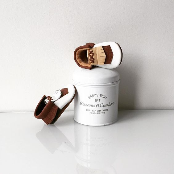 woodland moccasins on a can